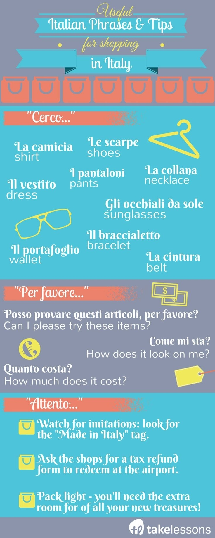 Wild image with italian phrases for travel printable