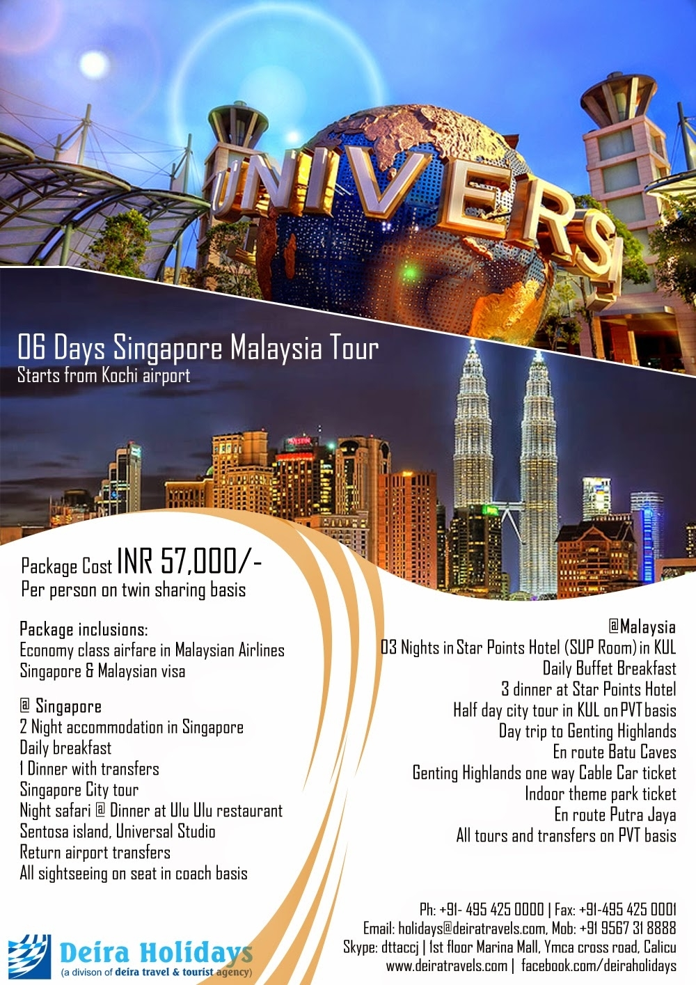 06 Days Singapore Malaysia Tour in Travel Package Singapore To Genting