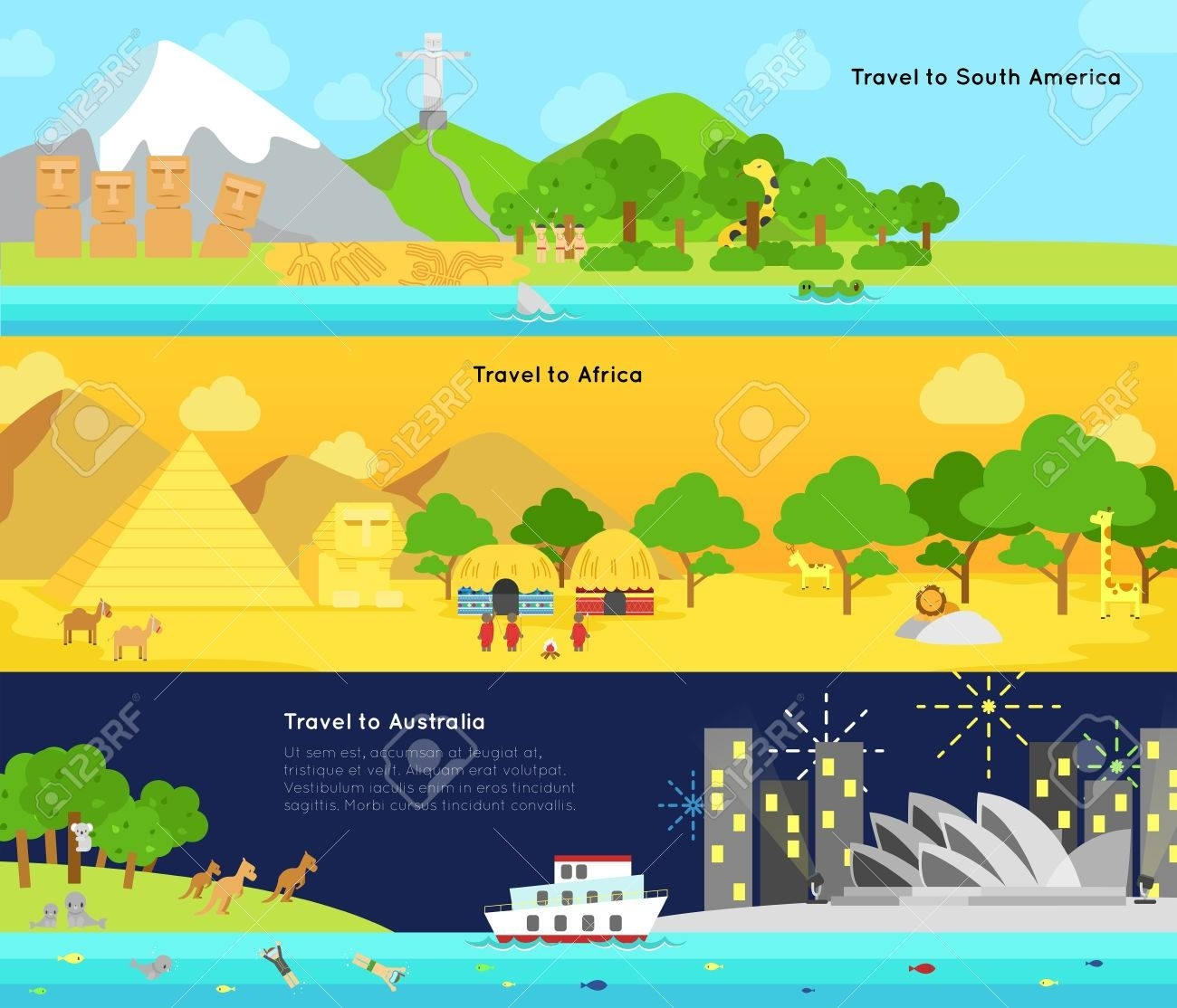 Travel And Tourism To The Main Continent Of South America, Africa inside Travel To South Africa From Australia